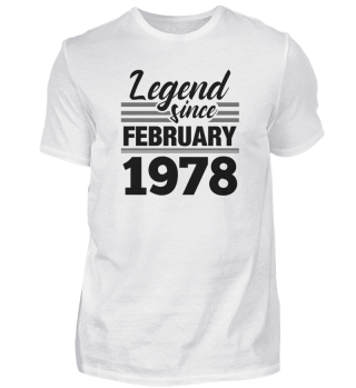 Legend Since February 1978