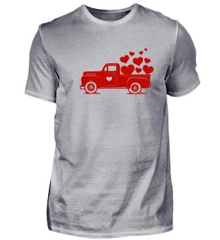 Truck Pickup Herz Love Truck Valentins