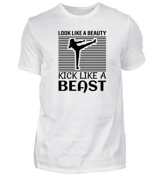 Look like a beauty kick like a beast.