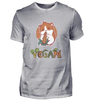 Vegan süßes niedliches Meerschweinchen