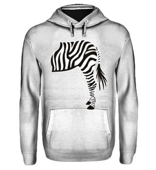 ARBEZ Zebra from behind - black white