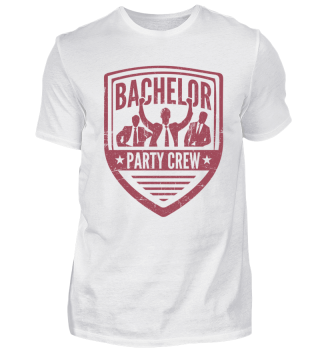 Bachelor Party Crew Maroon
