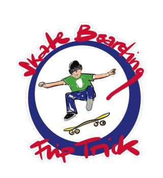 Aufkleber mit Style Flip Trick Boarding