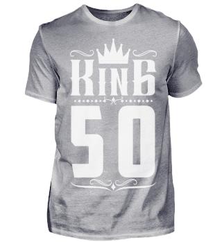 50. Geburtstag 50 Jahre King König weiss