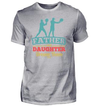 Tennis Vater und Tochter Traum Mannschaf
