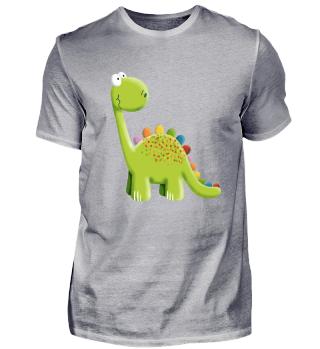 Lustiger Bunter Stegosaurus Dinosaurier