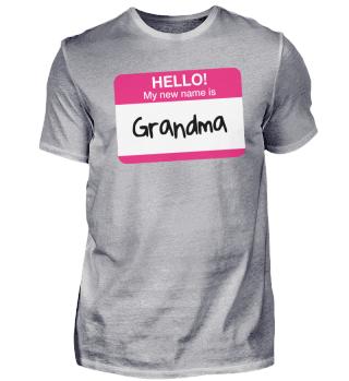 Funny My New Name Is Grandma