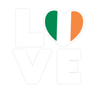 I love LOVE Ireland Flag Flag Heart