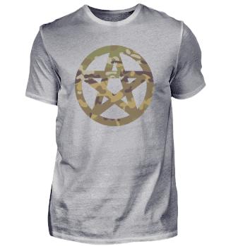 Pentagram symbol Camouflage Gift