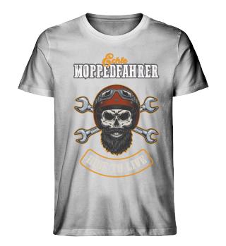 Ride To Live - Bearded Skull Red Helmet