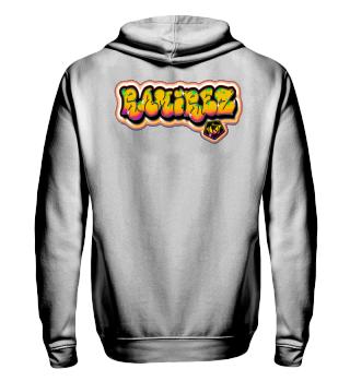 Herren Zip Hoodie Sweatshirt Graffiti Ramirez