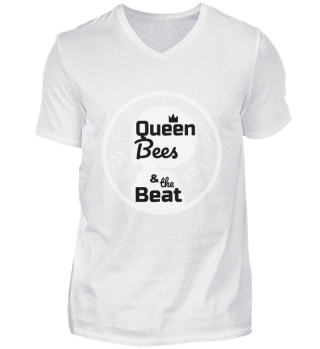 Queen Bees V-Neck Herrenshirt schwarz