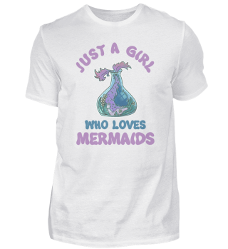 Just A Girl Who Loves Mermaids Fischglas