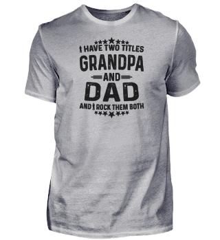 Opa und Papa - Großvater Geschenk