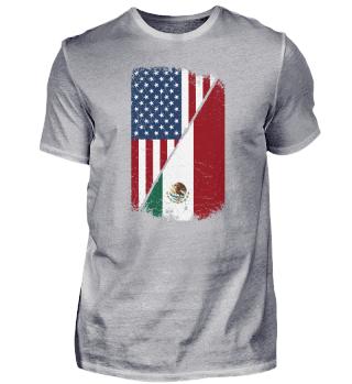 USA Mexican Flag