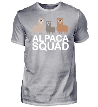 Lustiges Alpaka Squad Team Lama