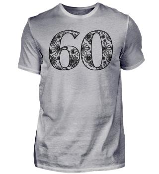 Geburtstag 60 ausmalen II - schwarz