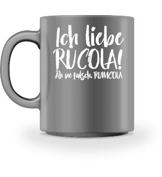 Ich liebe Rucola - weiss