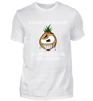 Lustiges scharfe Zwiebel Comic Shirt
