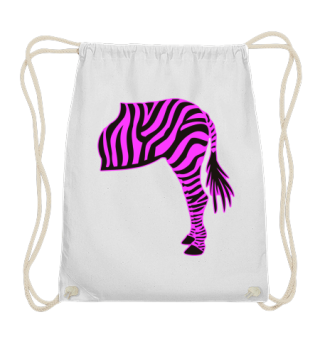 ARBEZ Zebra from behind - black pink