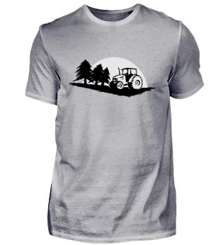 Traktor Forstwirt Landwirt Wald