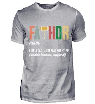 Fathor Geschenk zum Vatertag Papa Spruch