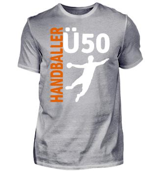 Ü50 Handball 50. Geburtstag geschenk