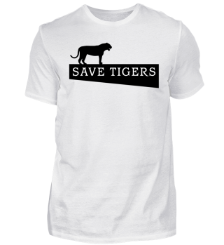 SAVE TIGERS - black