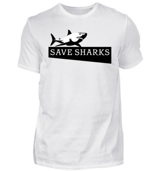 SAVE SHARKS - Hai schwarz