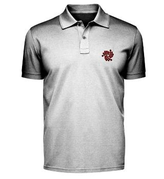 IOTA polo shirt with black logo