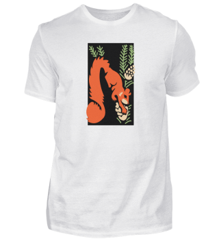 Colorful and Graphic Oriental Fox Shirt