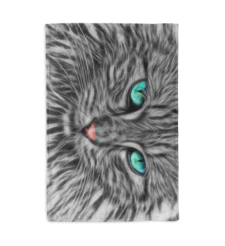 Kuscheldecke Katze türkisblaue Augen