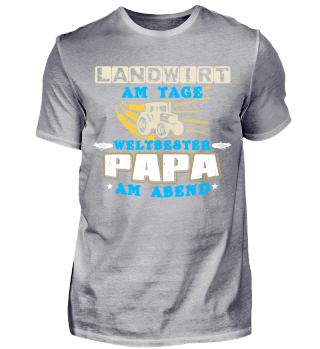Shirt Landwirt und weltbester Papa