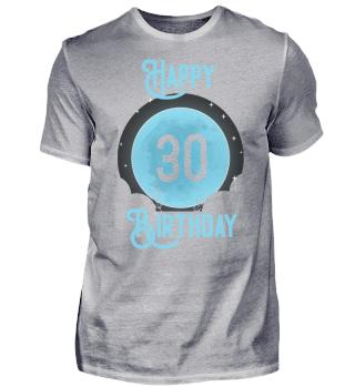 30. Geburtstag 30 Jahre Mond Vollmond