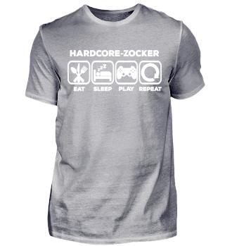Hardcore Zocker Gaming Shirt