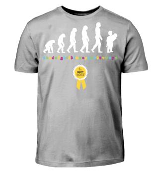 Evolution Einschulung Schulanfang Shirt