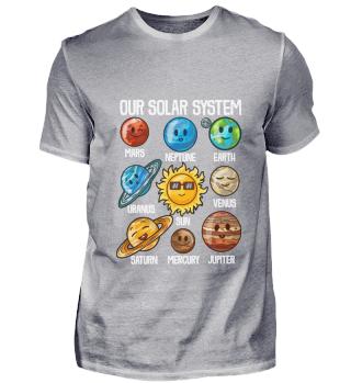 Solar System T-Shirt Planets Universe