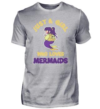 Just A Girl Who Loves Mermaids Rocker