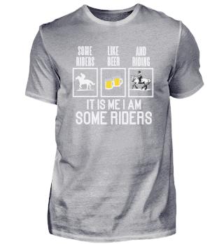Reiten Reiter mögen Bier und Reiten Pfer
