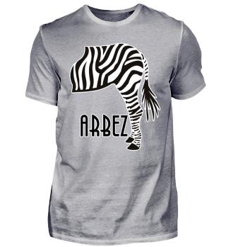 ARBEZ Zebra von Hinten - black white