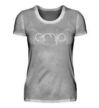 Girl Shirt Rundhals mit Logo weiss