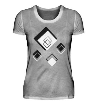 rhombus black and white, women