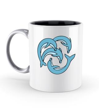 Delfine Tierschutz Shirt Tasse Geschenk