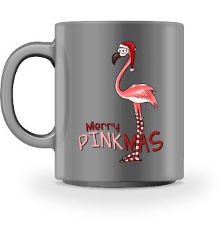 Merry Pinkmas Weihnachts-Flamingo