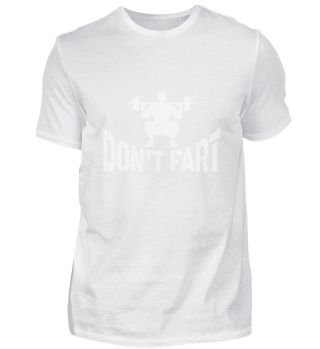 Don't fart - Gym workout training muscle