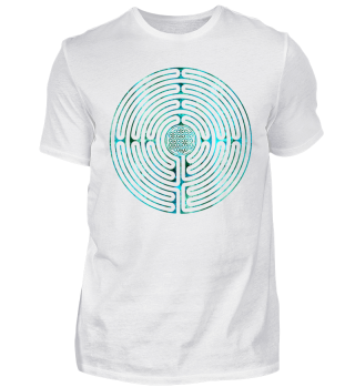 Chartres Labyrinth Flower Of Life teal