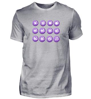 Buttons lila - verschiedene Farben