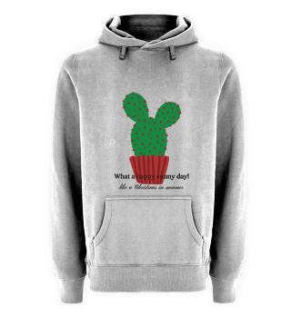 Hoodie Happy Sunny Day Cactus