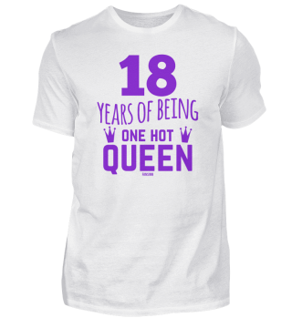 18 Years Of Being One Hot Queen purple