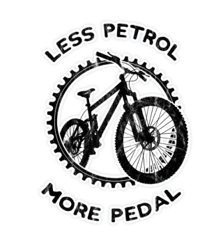 Less Petrol Biking Öko Bike MTB Sticker